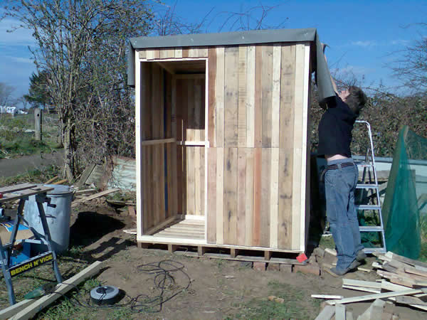 My Pallet Shed Recycled Wood Sheds Roofing Board Shed